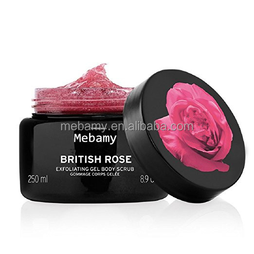 Private Label the Best Rose Exfoliating Gel Body Scrub