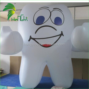 Dental Center Inflatable Tooth Mascot / PVC Inflatable Cute White Replica For Sale