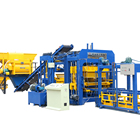 QT15-15 fully automatic cement concrete interlock paving hollow solid brick block making machine production line