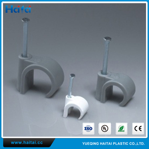 Haitai China Supplier Safety Use 8mm Plastic Nail Metal Hook Cable Clips