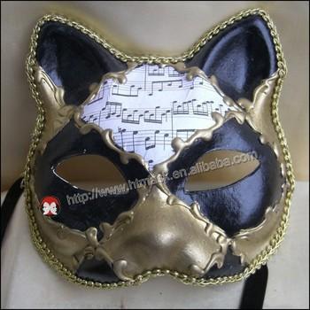 Yağlı Boya Payet Seksi Kedi Kadın Göz Maskesi Için Süslü Elbise
