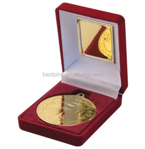 Custom Golf Medal In Gift Box, Gold Plated Golf Medal Medallion