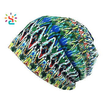 Women s Soft Comfy Printed Slouch Beanie Cap Hat 3D Sublimation Printing  Tie Dye Knit Beanie c15e0b3d0e9
