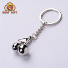 2017 custom cherry shaped 3d metal keychain zinc alloy keyring