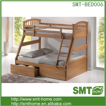 Children Wooden Triple Bunk Bed With Storage Drawer Buy Wooden