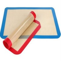 FDA Approved Heat Resistant Reusable Cooking Mat Silicone Baking Sheets