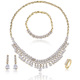 Luxury costume nigerian jewelry bridal necklace set fancy necklace sets