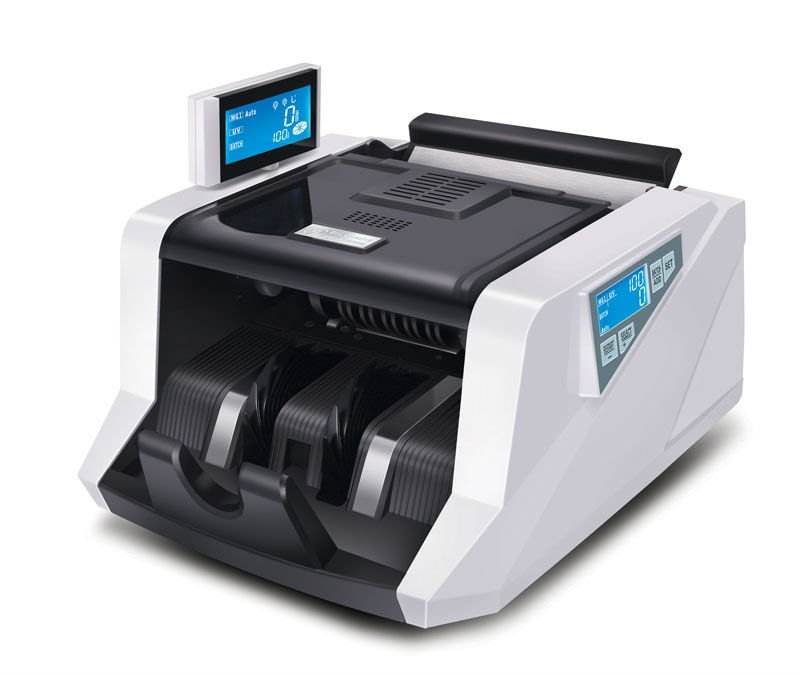 currency counting and checking machine with double LCD display GR168