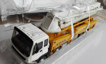 high quality 1/35 scale diecast concrete pump truck model toys client give  away gift, View concrete pump truck model toys, Idea Animation Product