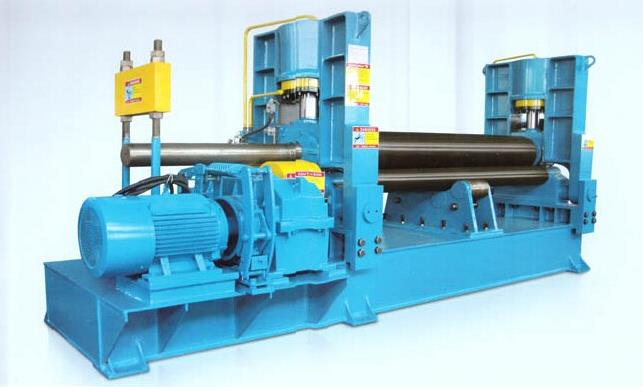 roller heat press machine horizontal down roller adjust 3 roller metal rolling machine W11x 25*x4000