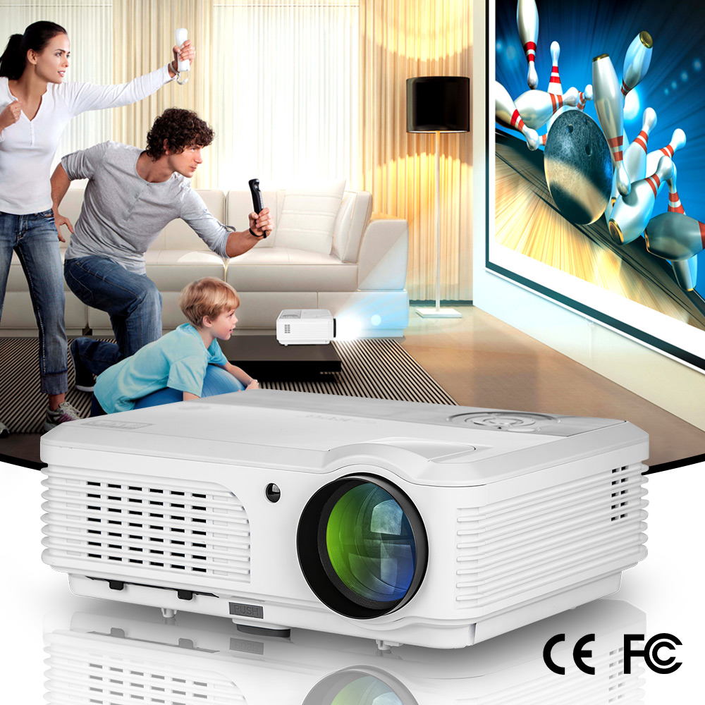 EUG X660S+ Multimedia HDMI Full HD LCD LED Video Projector 2800 Lumens Support 1080p projector