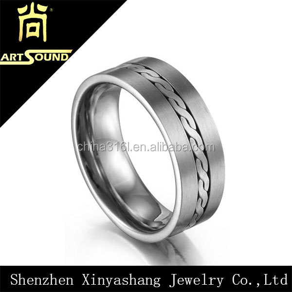 Best selling latest mens ring titanium jewelry