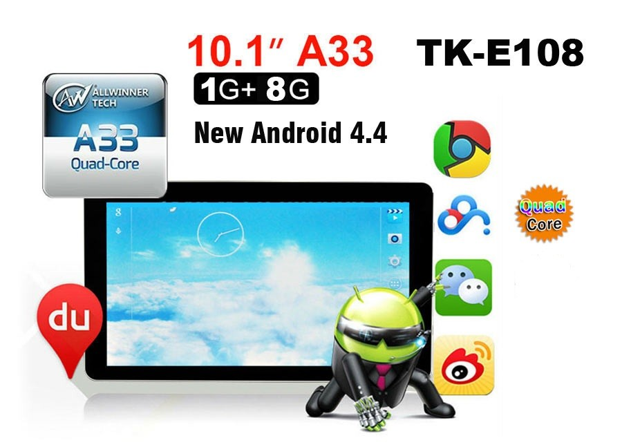 China Supplier Tablets 10.1 Android 4.4 Allwinner A33 Great Asia ...