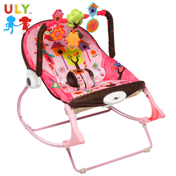 Beautiful With Hanging Toy Cheap Vibrative Music Baby Swings Cradle Chair