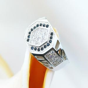 Fuyong jewelry new push pure silver 925 groom simple design finger custom man eternal ring