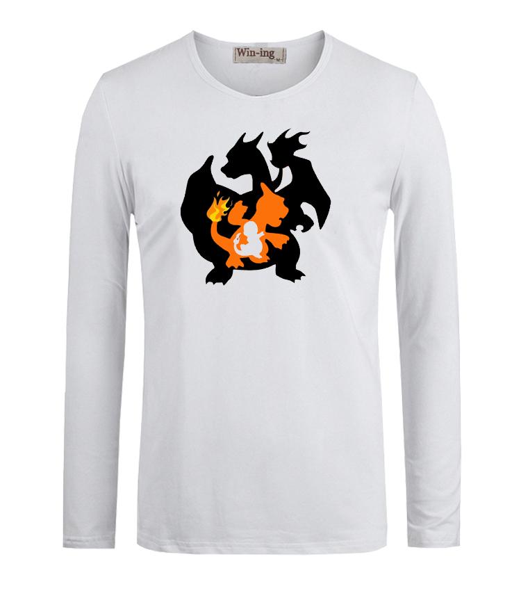 Summer Fashion T Shirts Pokemon Charmander Charmeleon