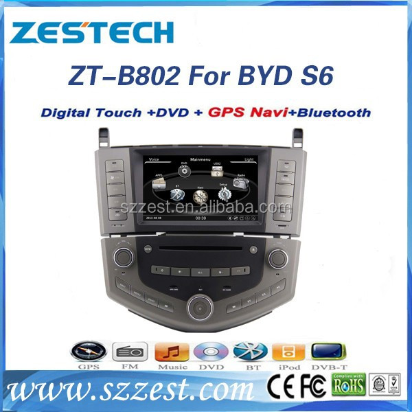ZESTECH car parts gps headrest dvd player for BYD S6 car dvd