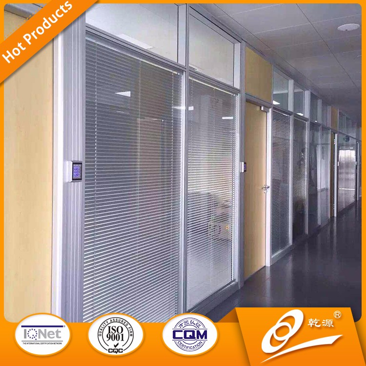 hot sell glass decoration stained office partition glass wall prices