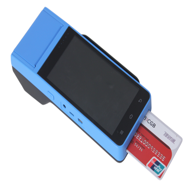 5 Inch Touch Screen Android Smart POS with High Speed Thermal Printer,IC Card Read-write,MSR,Wifi,Bluetooth,Camera