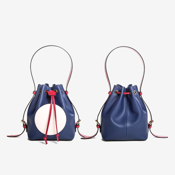 KA0173 Trendy Stylish Ladies Handbags Drawstring Women Leather Hand Bags