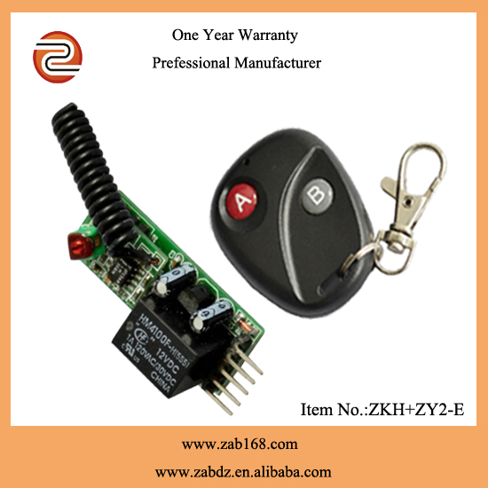 ZKH+ZY2-E 12V 1relay fixed code 1channel rf transmitter and receiver kits