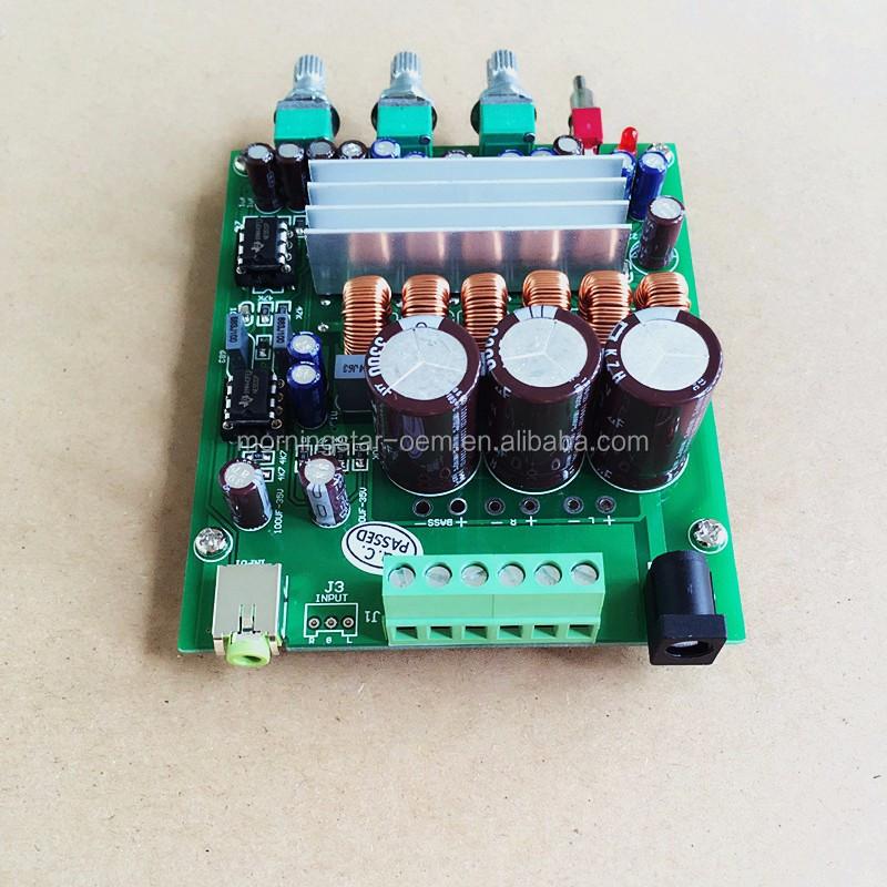 TPA3116D2 2.1 CH 100W+50W+50W HIFI Digital Subwoofer Amplifier Board 12V-24V CAR