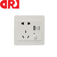 New Multifunctional Faceplate Electrical 3 port 5V Usb Wall Socket