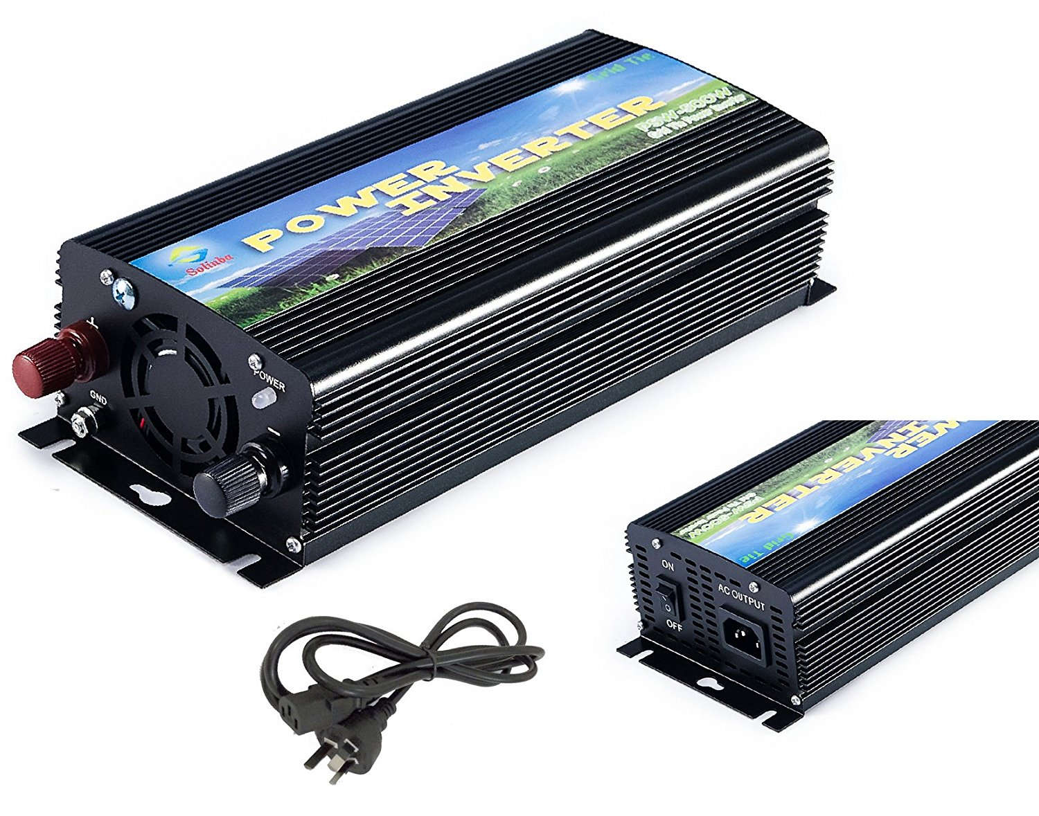 Solinba 500w Grid Tie Power Inverter for Solar Panel, MPPT, Converter, Black, AU, DC11v-28v to AC 220v