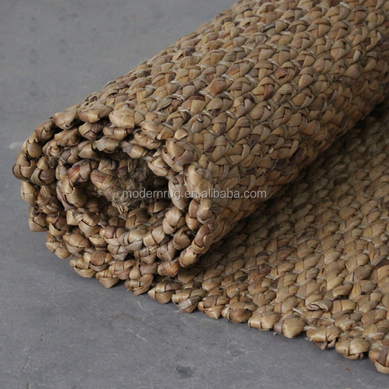 Natural water Hyacinth carpet ,round water hyacinth rug mat