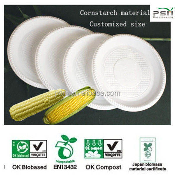 reusable plastic <strong>plates</strong> made from cornstarch