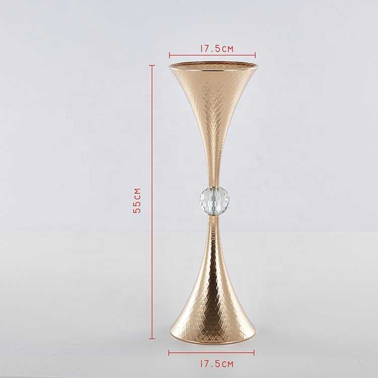 Double horn floor vase for party decoration wedding
