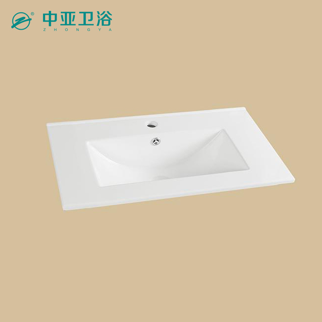 Zhongya factory bathroom vanity cabinet ceramic wash basin bathroom designs