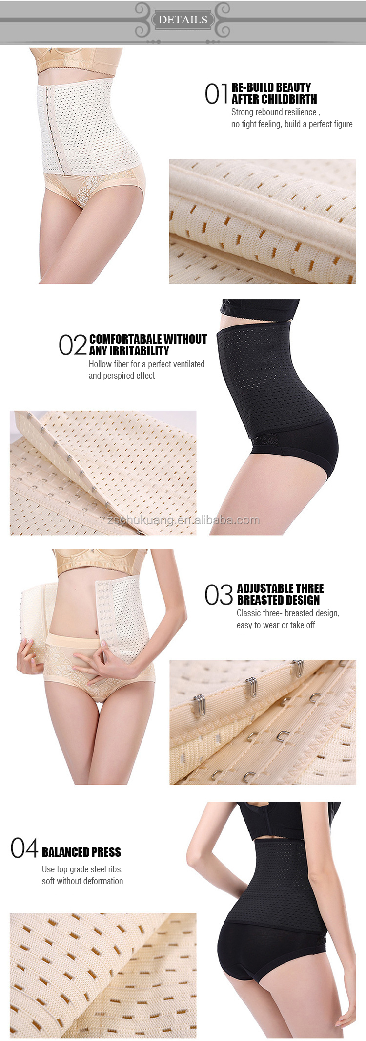 Wholesale Waist Trainer Belt Body Shaper Belly Wrap Trimmer Slimmer Compression waist clincher