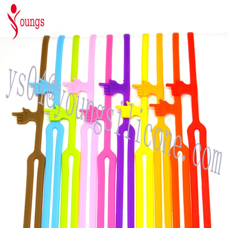 Lot Color Rubber Elastic Book Band Standard Bookmark Size Silicone