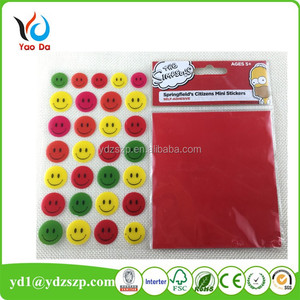 Custom size smile face printing epoxy fridge magnet stickers