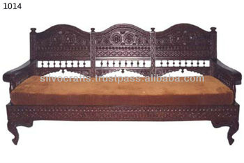 Genial Royal Indian Rajasthani Jodhpur Hand Carved Teak Wooden Sofa Diwan Sets U0026  Chaise Lounge (Carved