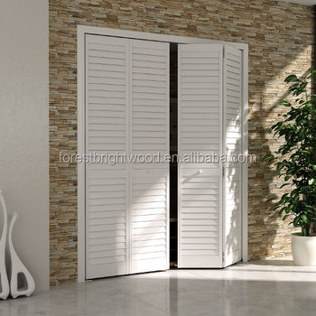 White Prefinished Interior Wooden Louvered Closet Doors Buy