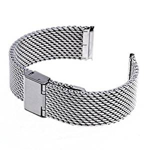 VONOTO 22mm Universal Stainless steel Smart Watch Replacement Bands for Samsung R380 R381 R382,LG W100 W110 W150,ASUS Zenwatch,Pabble Time