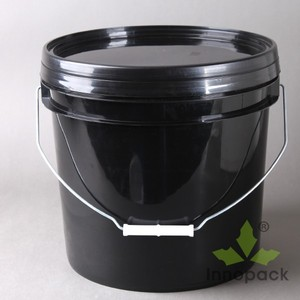 12L Plastic Bucket/drum/pail/container,the high quality plastic oil barrel,plastic bucket with holder for Battery zinc powder