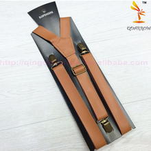 Fashion Mens Leather Suspenders