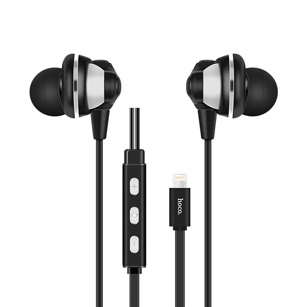 Lightning Earphones, Pandawell Digital 8-pin Lightning Earphone In-ear Headphones with Volume Control for Apple iPhone 7 / 7 Plus, iPad, iPod - Black