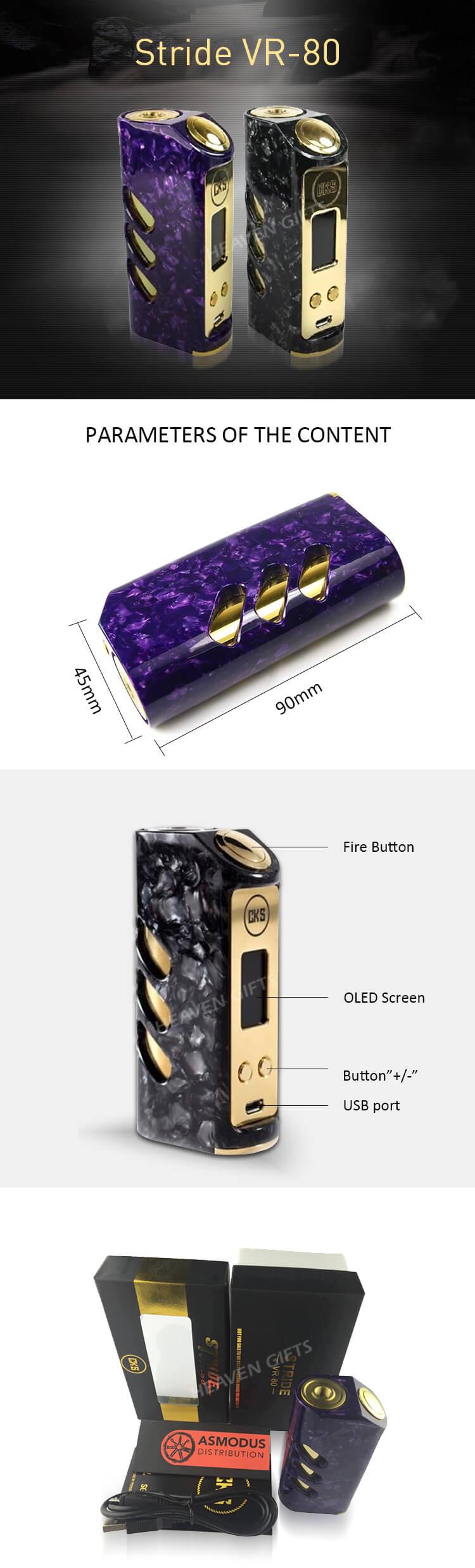 Colorful Hybrid Stone Design 80w Cks Stride Vr-80 Mod - Buy Stride  Vr-80,Cks Stride Vr-80,Cks Stride Vr-80 Mod Product on Alibaba com