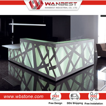 Modern Style Office Reception Counter Front Desk Table Price
