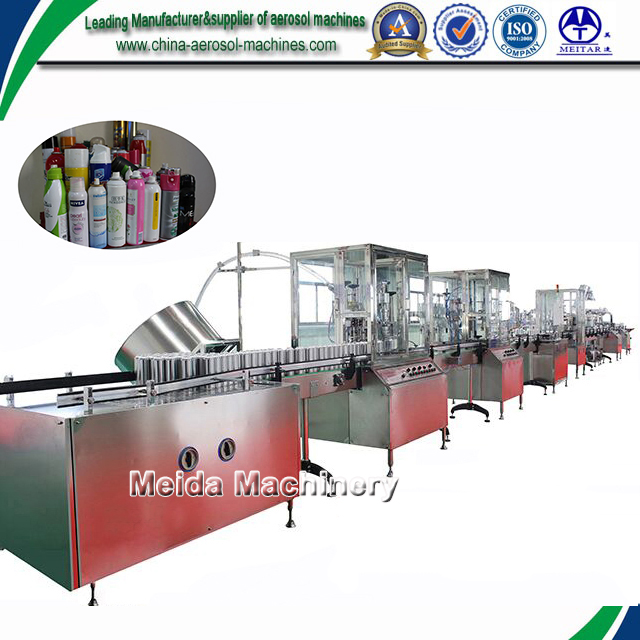 Full Automatic Aerosol Production Line /aerosol Can Insecticide ...