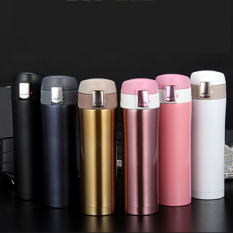 Bounce Outdoor Stainless Steel Advertisement Straight Body Vacuum Cup Bottle