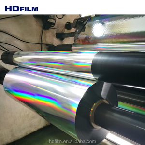 Transparent and Metallized Laser Rainbow Effect Mylar Films