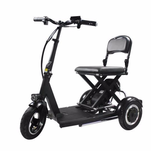 Folding Three Wheel Foldable Sale in Malaysia Vigorous Fast Disabled Electric Tricycle Motors Mobility Scooter for Elderly