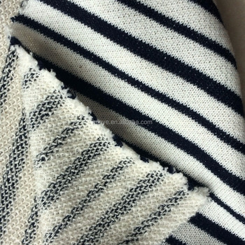 886ead4bf92 Shaoxing Textile 100 Cotton hacci stripe yern dyed circle knitted interlock  fabric