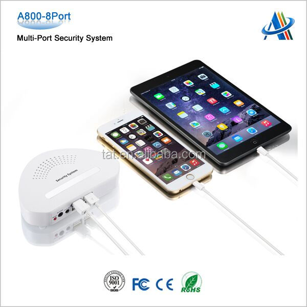 Retail display anti theft alarm device mobile phone tablet pc security display in chain stores A800-4port