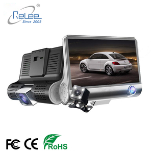 Car DVR Three Triple Lens Car Camera HD Video Recorder Rearview Mirror With Rear view DVR Dash cam